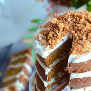 Pumpkin Tiramisu Layer Cake.