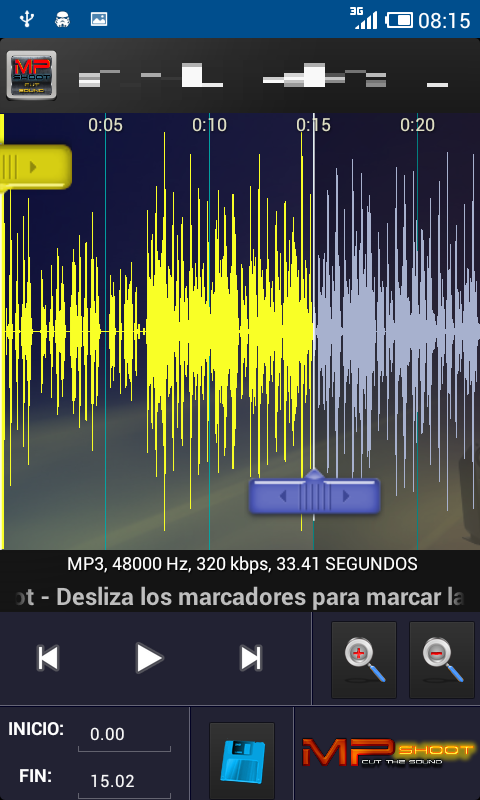 CortaCanciones MPShootCutSound - screenshot