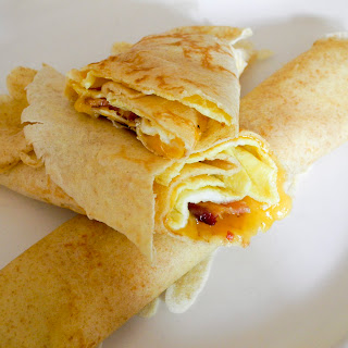Bacon & Egg Crepes.