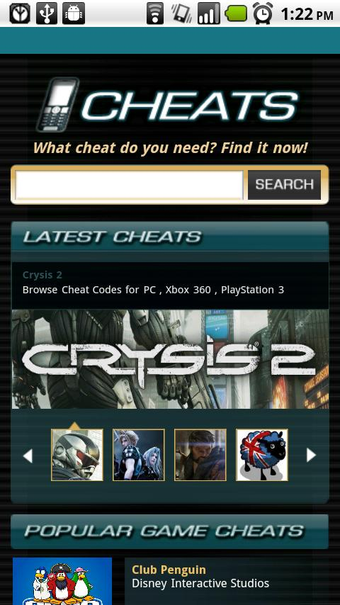 Game Cheats - screenshot