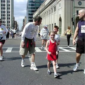 Shamrock Run, Chicago, Illinois 2004 by Angela Theresa Egic - Sports & Fitness Running ( shamrock run, 2004, runners, chicago, people )