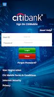 Screenshot of Citi Mobile