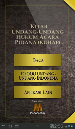 UU Hukum Acara Pidana