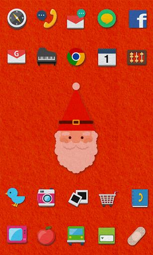 Felt Santa icon theme