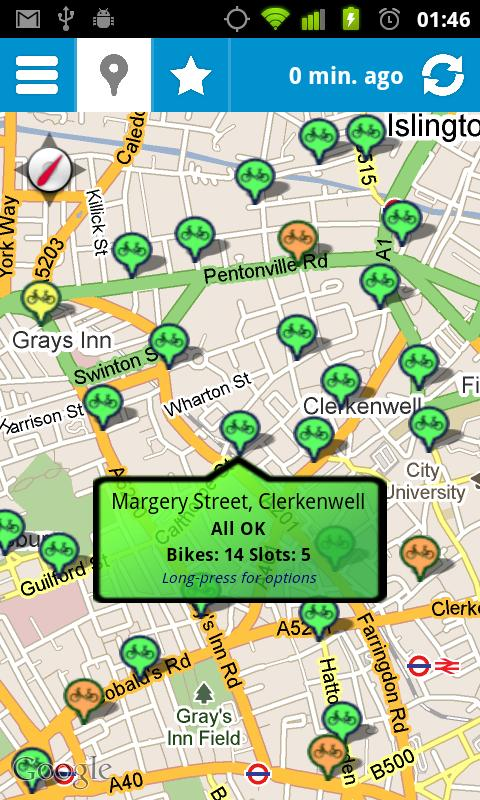 Cycle Hire Widget- screenshot
