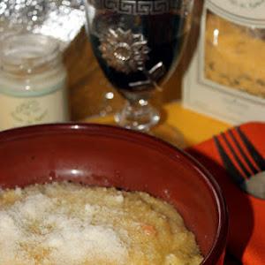 Polenta with Porcini Mushrooms and Black Truffle Cream