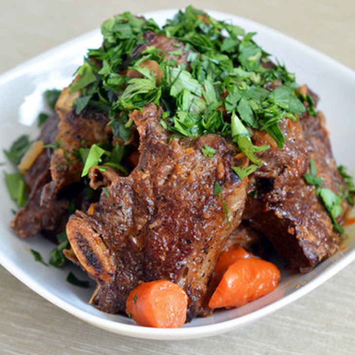 Pressure Cooker Porcini and Tomato Beef Short Ribs Recipe