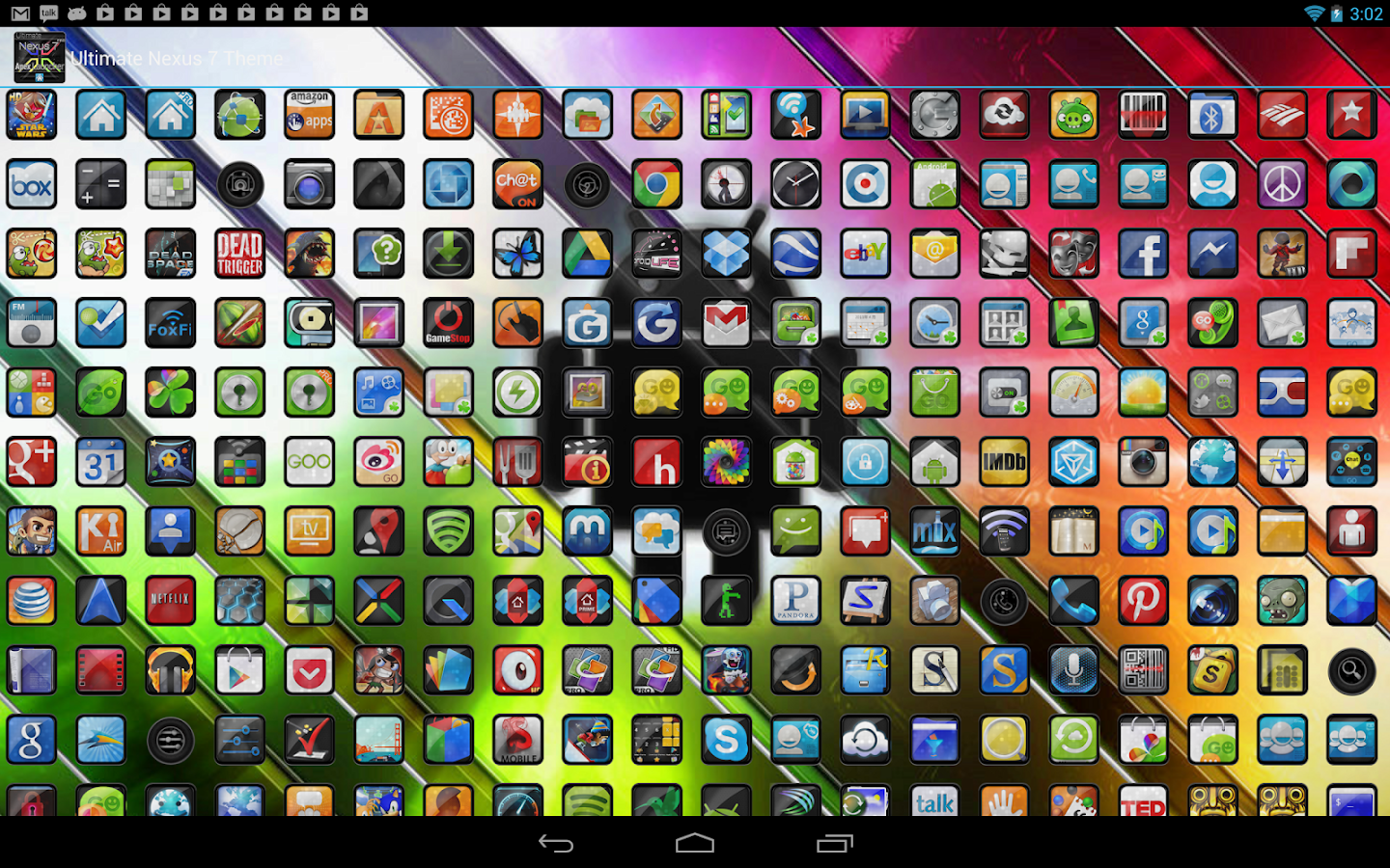 Nexus 7 Stock Apex Theme - screenshot