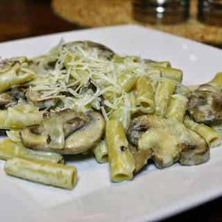 Pasta With Whiskey And Mushrooms.