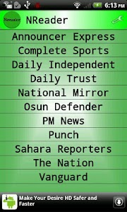 Nigeria News Reader screenshot 0
