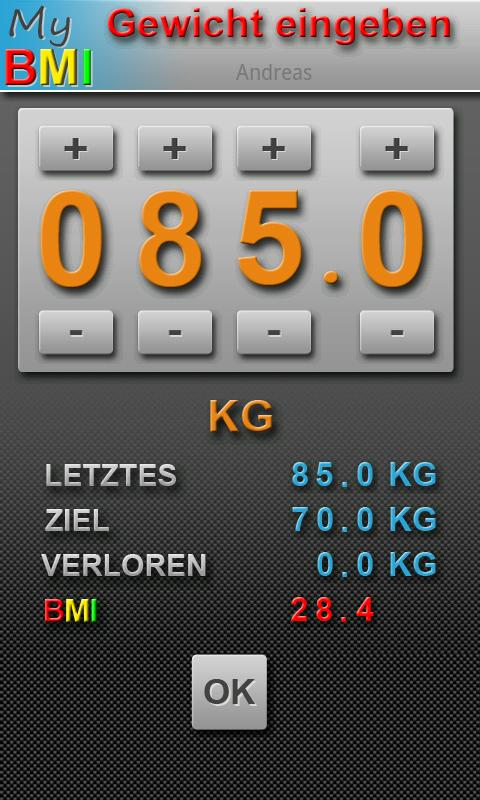 My BMI by DRP (deutsch)- screenshot