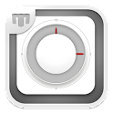 MIStyle White Clock - UCCW icon