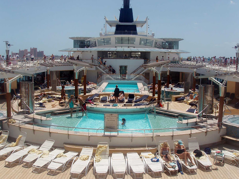 A view of the main pool aboard Celebrity Millennium.