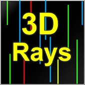 3D Rays Live wallpaper