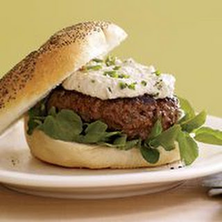 Pub Patties with Horseradish Sauce and Cress