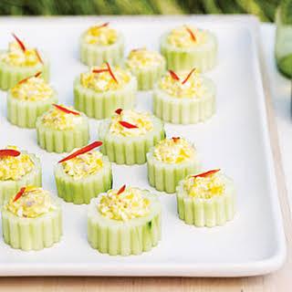 Deviled Cucumber Cups.