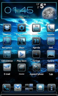 Next Launcher Theme iblue