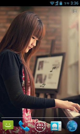 钢琴少女动态壁纸