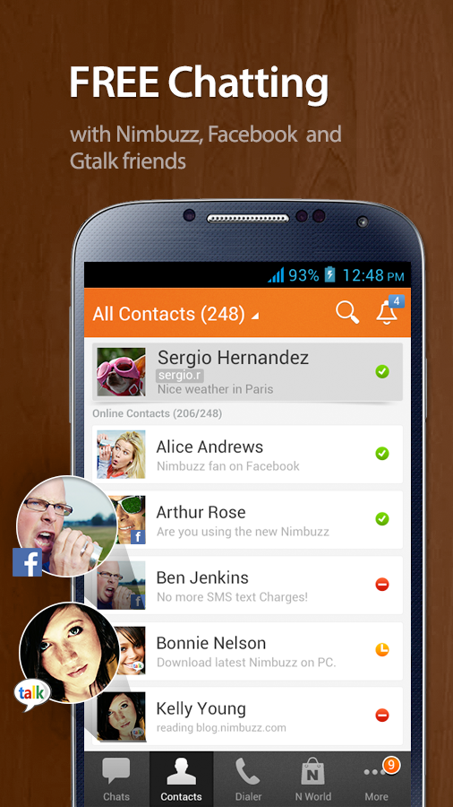 Download Nimbuzz Messenger for android devices free