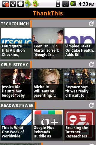 ThankThis News Reader- screenshot
