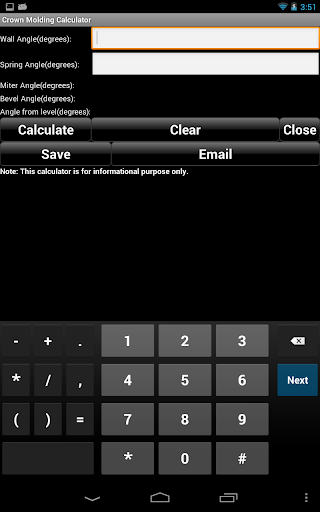 Screenshot for Handyman Calculator Pro (Key) in United States Play Store