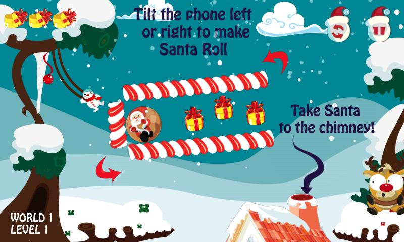 Santa Roll - screenshot