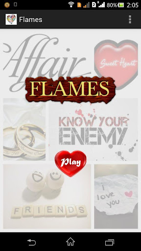 Flames love test