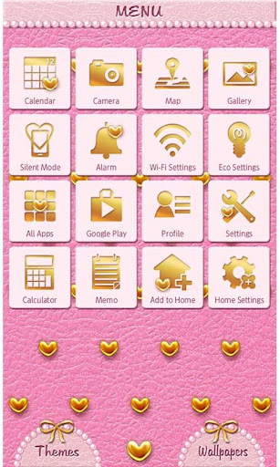 Pink Leather & Heart Studs 1.1 Windows u7528 2