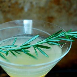 Meyer Lemon Rosemary Martini #SundaySupper