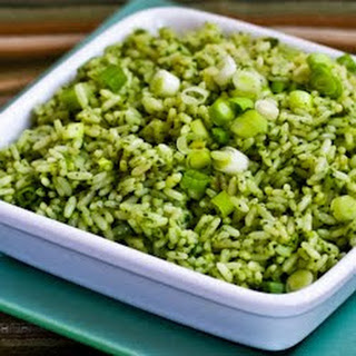 Ginger-Cilantro Rice with Green Onion and Sesame.