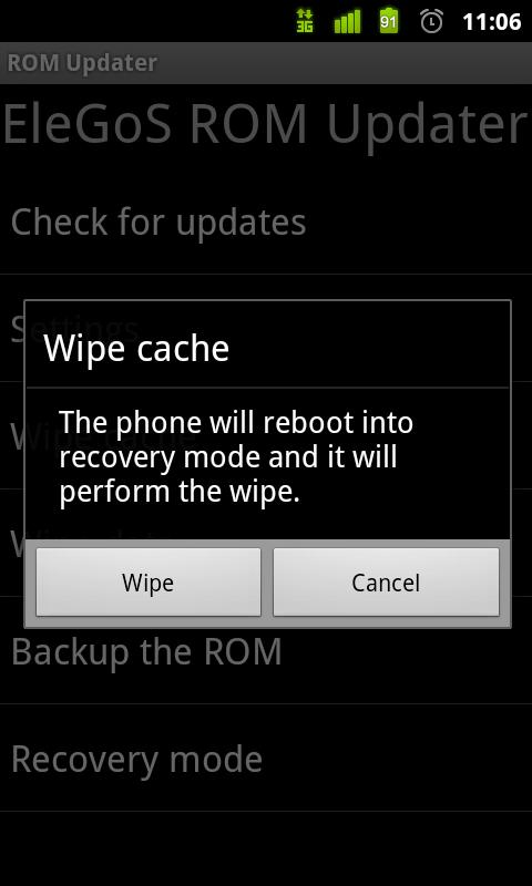 ROM Updater - screenshot