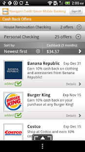 Navigant Credit Union Mobile - screenshot thumbnail