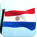 Paraguay Flag 3D Free icon