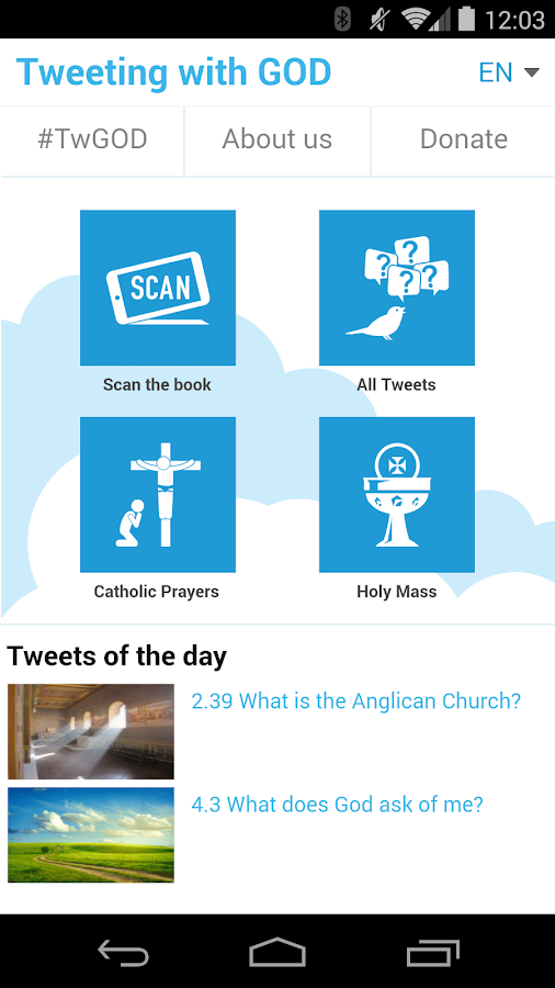 Tweeting with GOD- screenshot