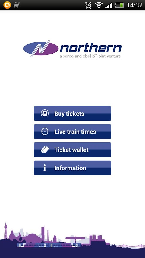 Northern Rail train tickets - screenshot