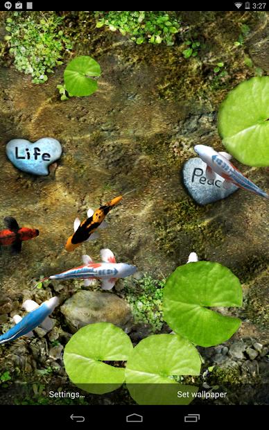 Koi free live wallpaper apps on google play for Koi 3d live wallpaper