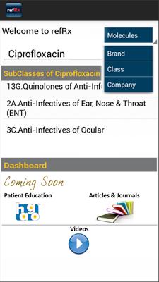 refRx Drug Directory App - screenshot