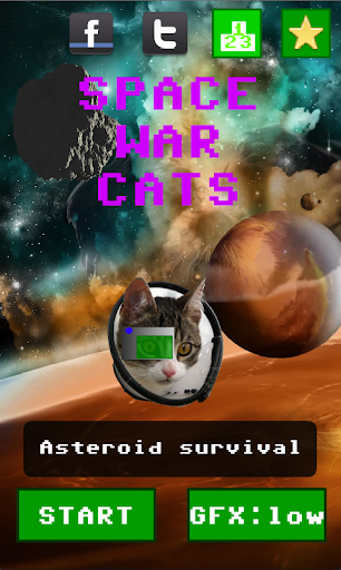 Space War Cats DUMB ASTEROIDS