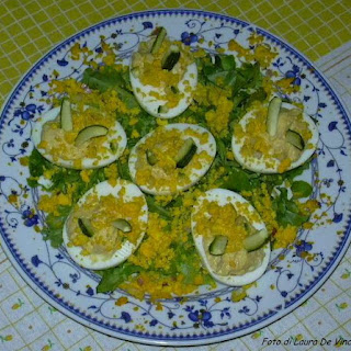 Mimosa Eggs.