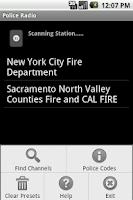 Screenshot of Police Radio