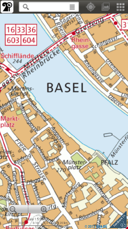Basel Stadtplan- screenshot
