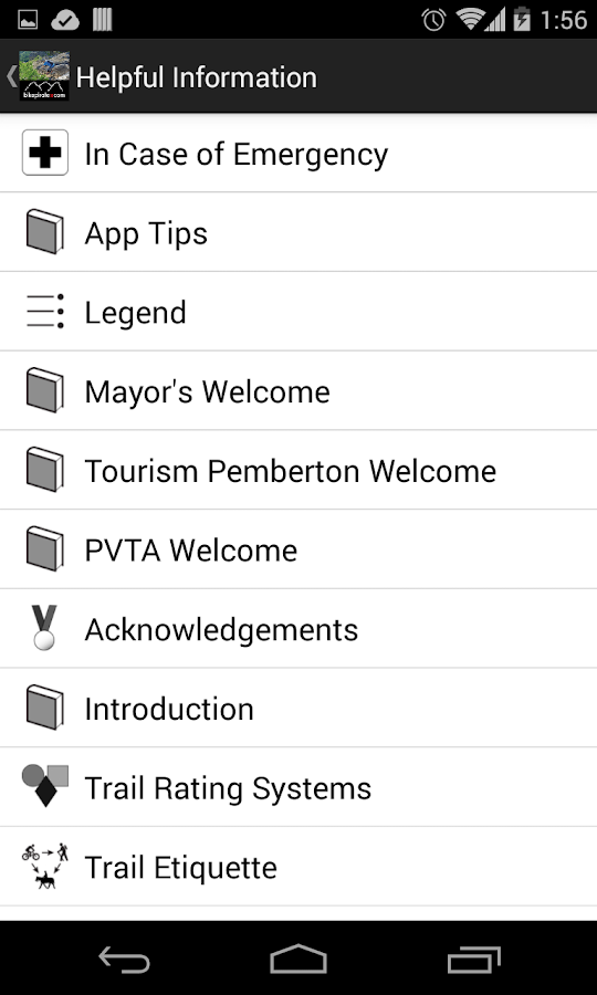 Pemberton Mountain Bike Guide- screenshot
