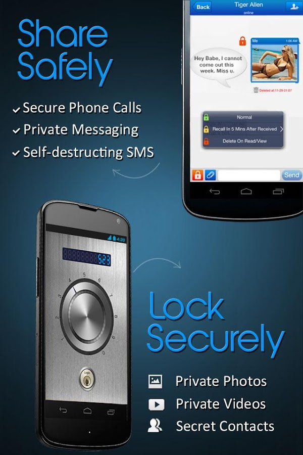 Private Text Messaging & Calls - screenshot
