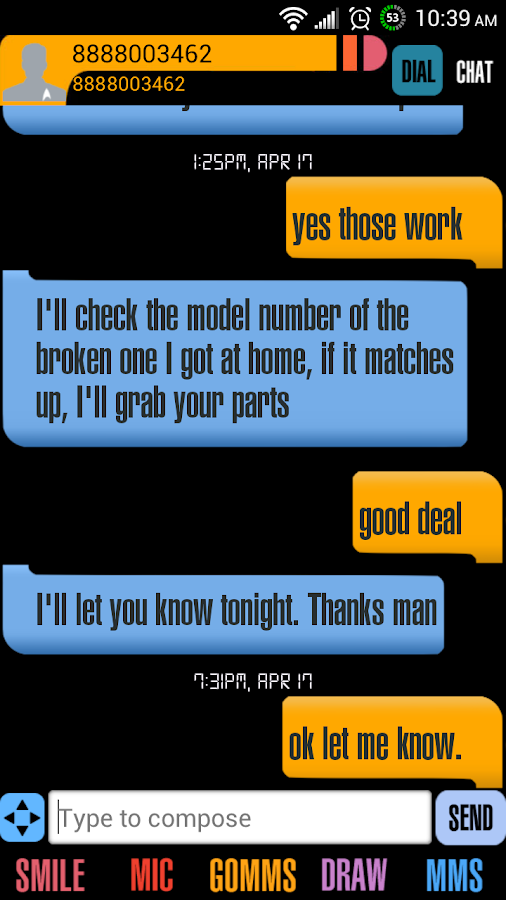 Enterprise-B Go SMS Pro Theme - screenshot