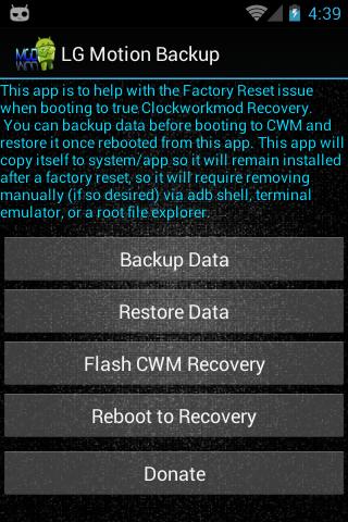 LG Motion Backup Stock Edition