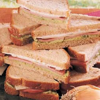Avocado Ham Sandwiches.