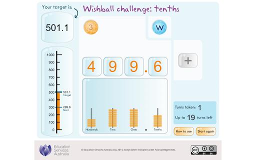 Wishball challenge: tenths