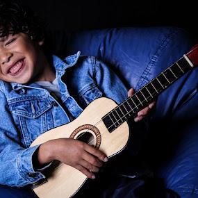 Happy Music by Portraits Rhonda - Babies & Children Child Portraits ( child, music, laughing, happy, guitar )