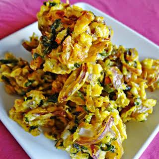 Onion-Cabbgae Fritters/Pakora.