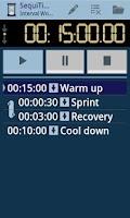 Screenshot of SequiTimer interval timer